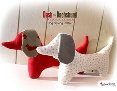 Dachshund Dog Sewing PATTERN  sausage dog by RedRockingBird