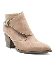 Another great find on #zulily! Taupe Tilt Bootie #zulilyfinds