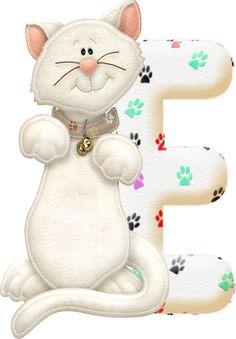 Alfabeto gatito de fieltro.   Oh my Alfabetos!