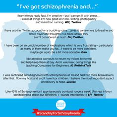 """I've got schizophrenia and..."""