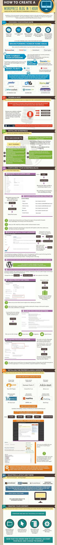 How to Create a WordPress Website in 1 Hour [Infographic]