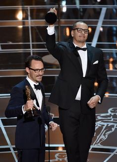 """Mat Kirkby and James Lucas won the Best Live Action Short Film Award for """"The Phone Call"""""""