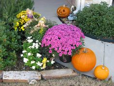 Past Presents:  Our front walkway one fine autumn day