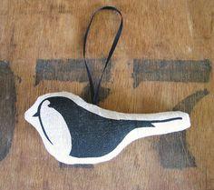 Printed Hanging Bird Christmas Decoration  by HandmadeandHeritage, £5.00