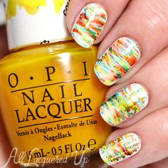 OPI Color Paints Nail Art - Fan Brush via @alllacqueredup