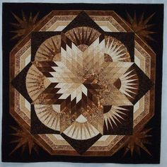 Are You Lone Star Tonight Wonderful colors! Bargello Quilts, Star Quilts, Quilt Blocks, 3d Quilts, Lone Star Quilt Pattern, Star Quilt Patterns, Bargello Patterns, Quilting Projects, Quilting Designs