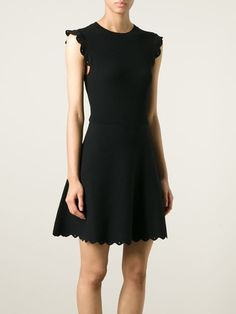 RED VALENTINO ruffle sleeve knitted dress