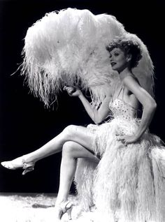 Lucille Ball as a showgirl (before I love Lucy)