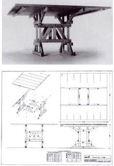 Tavolo 2  Design: Enzo Mari Glass Furniture, Diy Furniture, Furniture Design, Cafe Window, Plywood Table, Desk Cabinet, Expo, Wood Design, Outdoor Dining