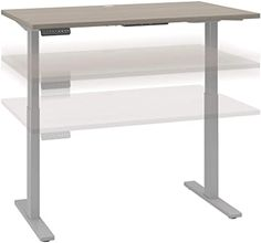 Amazon.com: Bush Business Furniture Move 60 Series Height Adjustable Standing Desk, 48W x 30D, Sand Oak with Cool Gray Metallic Base: Home & Kitchen Sit To Stand, Stand Up Desk, Wall Clock Sticker, Electric Standing Desk, Platinum Grey, Home Office Desks, Living Room Bedroom, Business Furniture, Home Kitchens