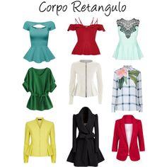Corpo retangulo - tops