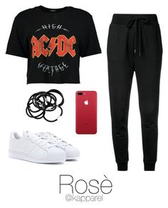 Dance Practice: Rosé by kapparel on Polyvore featuring moda, Boohoo, Love Moschino, adidas and H&M
