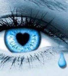 blue heart pupil.