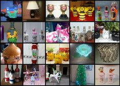 20 crafts with recycled bottles most votes on Facebook | Crafts