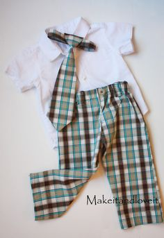 Tutorial how to make boys pants out of mens shorts