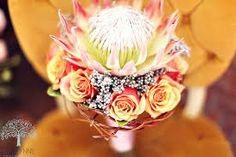 Protea & rose bouquet