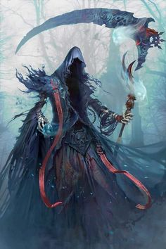 Fantasy Inspiration — quarkmaster: the death yakun wang Dark Fantasy Art, Fantasy Kunst, Fantasy Artwork, Dark Art, Demon Artwork, Anime Artwork, Arte Horror, Horror Art, Fantasy Character Design