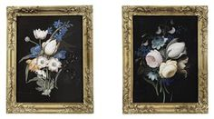 A PAIR OF IRISH GEORGE II FLOWER PICTURES