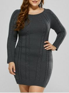 GET $50 NOW | Join RoseGal: Get YOUR $50 NOW!http://m.rosegal.com/plus-size-dresses/plus-size-mini-cable-knit-955417.html?seid=8236597rg955417