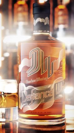 Defiance Whiskey - Bottles and screen printing by Universal Packaging.