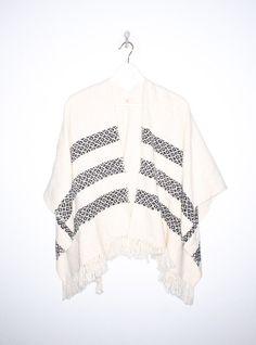 Crochet Poncho in Cream BY TEJIDO