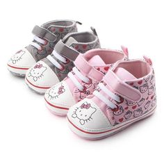 Infant Baby Girl Minnie Mouse Rose Polka Dot Crib Chaussures nouveau-né à 18 mois