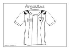 2018 World Cup Team Shirts Colouring Sheets - SparkleBox Black And White Sheets, World Cup Kits, World Cup Teams, Colouring Sheets, Free Teaching Resources, Team Shirts, Swimwear, Summer, Colors