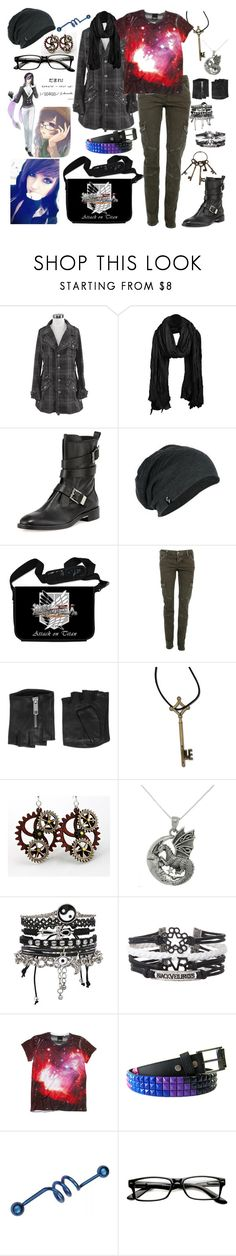 """""""My headache is singing about a package. The clock's hand is stuck at 4 o'clock. No one would tell me why, but the world has begun to rotate in reverse"""" by rukiakuchiki12341 ❤ liked on Polyvore featuring Alexander Wang, CARGO, Karl Lagerfeld, HUGO, Carolina Glamour Collection, ASOS and Hot Topic"""