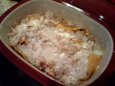 Pampered Chef Enchilada Casserole in Deep Covered Baker