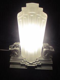 1930s Original Frankart Skyscraper lamp