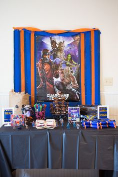 Guardians of the Galaxy Party Table