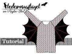 Supercool! Fledermausärnmel für ein Raglanshirt nähen | Schnittmuster für ein Raglanshirt z.B. https://www.pattydoo.de/schnittmuster/kindershirt-leo-raglan