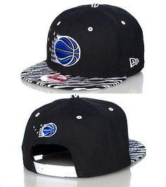 NEW ERA Orlando Magic snapback cap Adjustable strap on back Zebra print brim Embroidered team logo on front Jimmy Jazz Exclusive