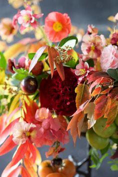 Autumn Flower Centerpiece by Kiana of Tulipina – Design*Sponge