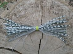 Freshwater - spinner baits zebra, brown glitter, and (clear and silver)