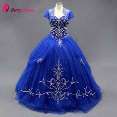 >> Click to Buy << Embroidered Tulle Skirt Puffy Party Gown Crystals Real Pictures Sequined with Jacket Ball Gown Quinceanera Dresses #Affiliate