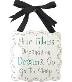 Your Future Depends on Dreams Wall Hanging