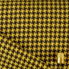 Houndstooth Yellow and Brown Throw