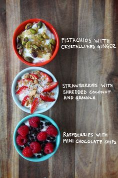Toppings for your Greek yogurt!