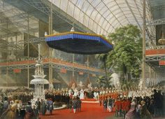 Queen Victoria opens the Great Exhibition in the Crystal Palace in Hyde Park, London, in 1851.