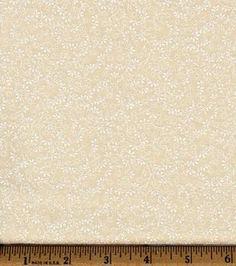 Recuerdo de calicó ™ tela de algodón floral de la vid-Natural
