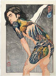 Hokusai's Waterfalls - Paul Binnie prints https://www.printed-editions.com/art-print/paul-binnie-hokusais-waterfalls-71371