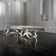 Enignum Sculptural Furniture by Joseph Walsh Studio. - Design Is This Natural Form Artists, Natural Forms, Wooden Furniture, Furniture Design, Joseph Walsh, Slow Design, Decoration, Sculpture Art, Dining Table
