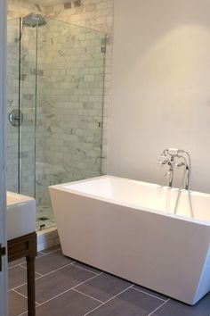small bathroom standalone tub and walk in shower