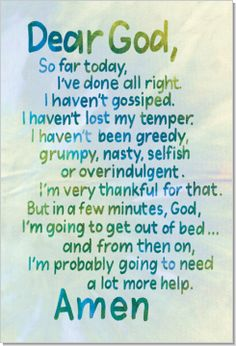 Prayer for the day......hahaha yep that's about right