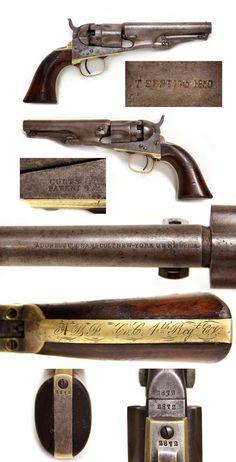 Historic Double Inscribed 4th Connecticut Vols. M-1862 Colt Police Revolver.
