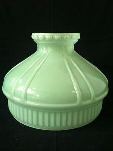 jadite lampshade | ... -Antique-Rare-Aladdin-Jadeite-Green-Glass-Oil-Lamp-Shade-W-Design