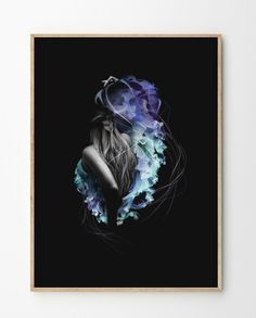"""Yvonne"" is a limited edition piece created by Norwegian artist Linn Wold. Digital Drawing Pen, Scandinavian Design, Delicate, Shapes, Art Posters, Art Prints, Drawings, Illustration, Artist"