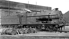 LMS Fowler at Saltley Locomotive Depot Steam Railway, Train Times, British Rail, Steam Engine, Steam Locomotive, Paddle, Birmingham, Military Vehicles, Past