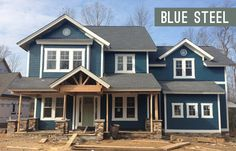Picking An Exterior Paint Color | Young House Love - Benjamin Moore Newburg Green with gray-green front door
